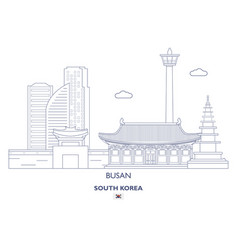 busan linear city skyline vector image