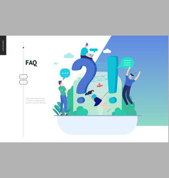 Business series - faq web template vector