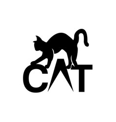 cat logo modern cat logo template isolated on vector image