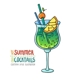 cocktails one cartoon 7 vector image