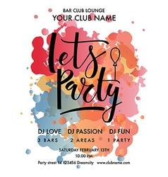 Color Festival Party Flyer EPS10 vector