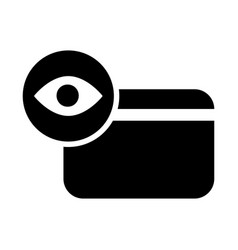 credit card with an eye icon vector image