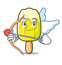 Cupid lemon ice cream character cartoon vector