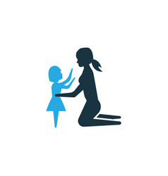 daughter colorful icon symbol premium quality vector image
