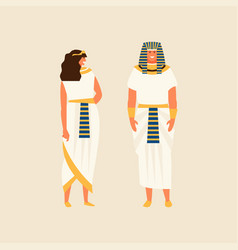 Egyptians people in suits vector