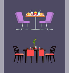 fast food table serving board with hashi vector image