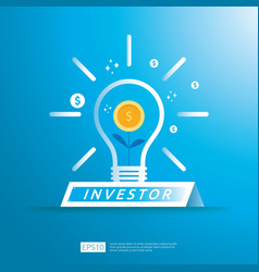 Financial business investor funding concept vector