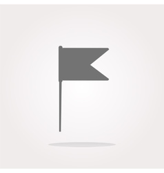 flag sign web button icon vector image