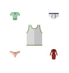 Flat icon clothes set of singlet clothes vector