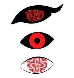 flat monster eye vector image