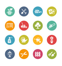 gardening icons - fresh colors series vector image