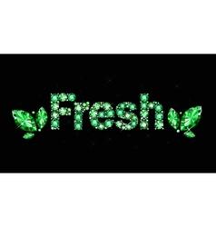 Gem word fresh vector image