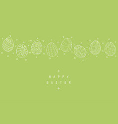 hand drawn easter background with vector image