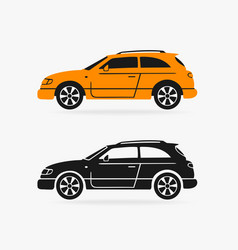 Hatchback car symbol vector