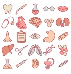 Icons on the topic of medicine vector
