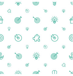 Idea icons pattern seamless white background vector