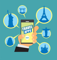 image about travel apps vector image