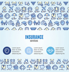 insurance concept infographics banner vector image