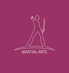 kung fu martial art club vector image