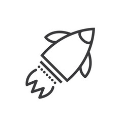 launch rocket line icon sign vector image