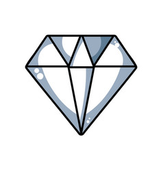 Line diamond gem and crysral accesory vector