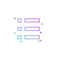 list grid icon design vector image