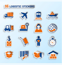 Logistic stickers set vector image