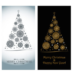 luxurious greeting card for christmas and new year vector image
