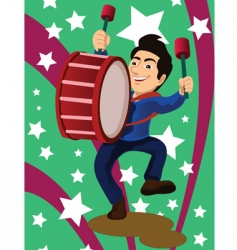 Marching band drum vector