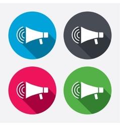 Megaphone sign icon Loudspeaker strike symbol vector