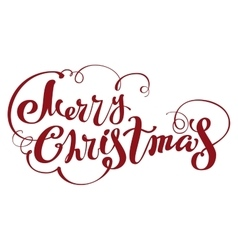 Merry Christmas lettering text for greeting card vector image