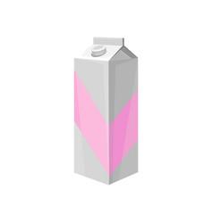 milk carton box dairy product cartoon vector image