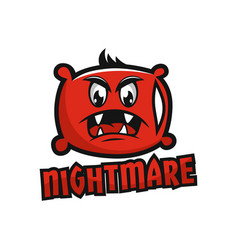 modern mascot pillow and nightmare logo vector image