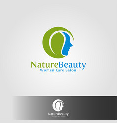 nature beauty salon and care logo vector image