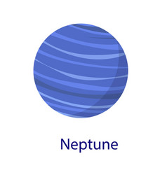 neptune planet icon flat style vector image