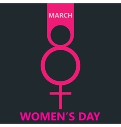 Pink symbol womens day background vector image vector image