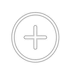 positive symbol plus sign black dotted vector image