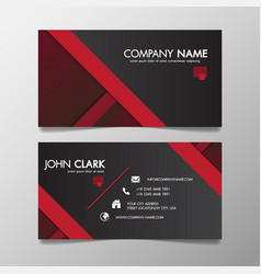 red and black modern creative business template vector image