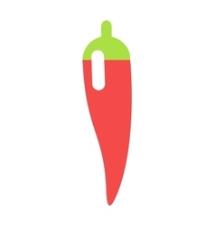 Red chili pepper food vegetable ingredient paprika vector