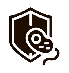 Safeguard healthcare bacteria sign icon vector