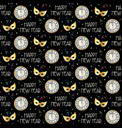 seamless new years eve pattern with countdown vector image