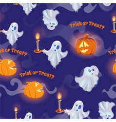 Seamless pattern with ghosts for halloween vector image