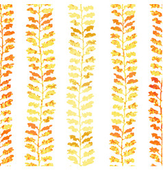 Seamless pattern with herbs foliage plants vector