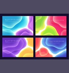 set abstract minimalist backgrounds vector image