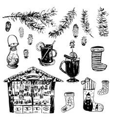 Set of Christmas vector image