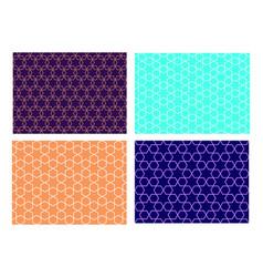set seamless islamic pattern art vector image