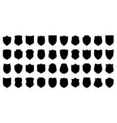 Set various vintage shield icons black vector