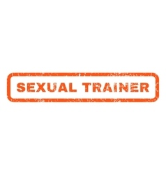 Sexual Trainer Rubber Stamp vector
