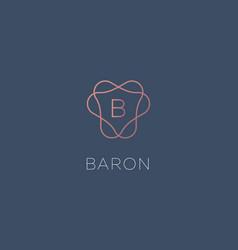 simple elegant letter b icon logotype vector image