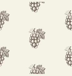 sketch berry abstract seamless pattern vector image